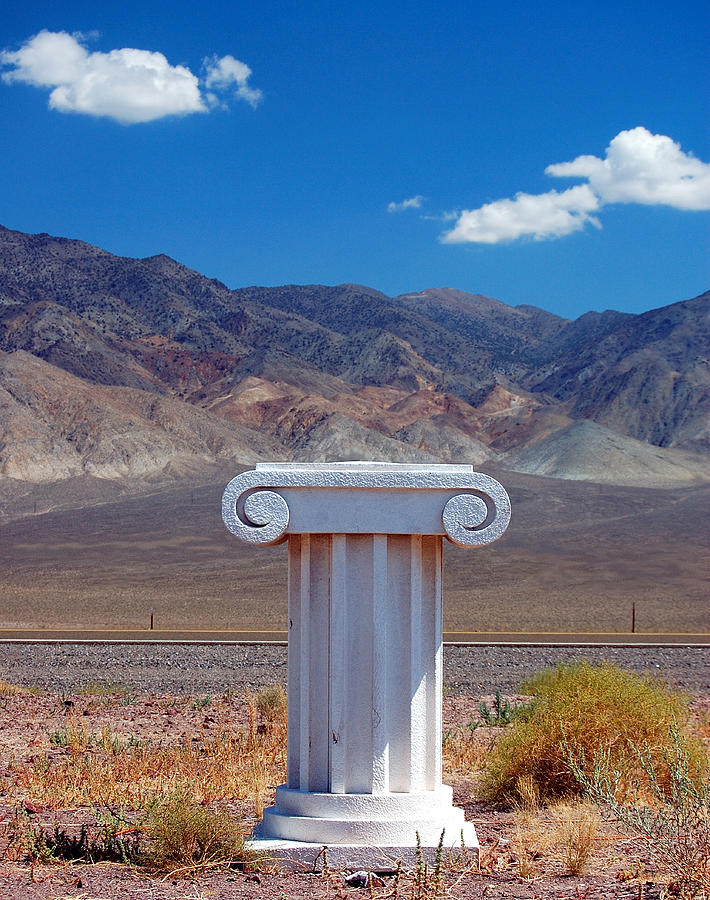 Columns Photograph - Middle Of Nowhere by Heather S Huston