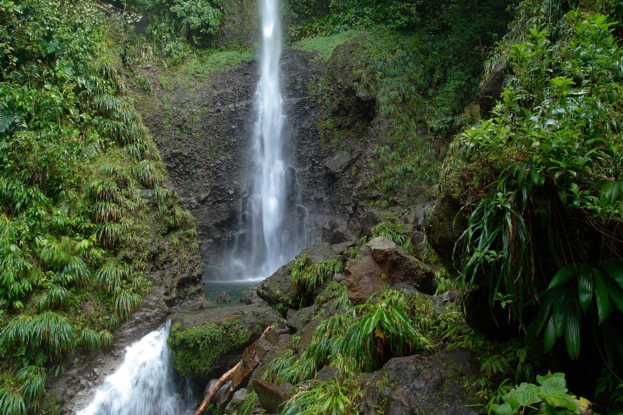 Island Photograph - Middleham Waterfall In Dominica by Tropical Ties Dominica