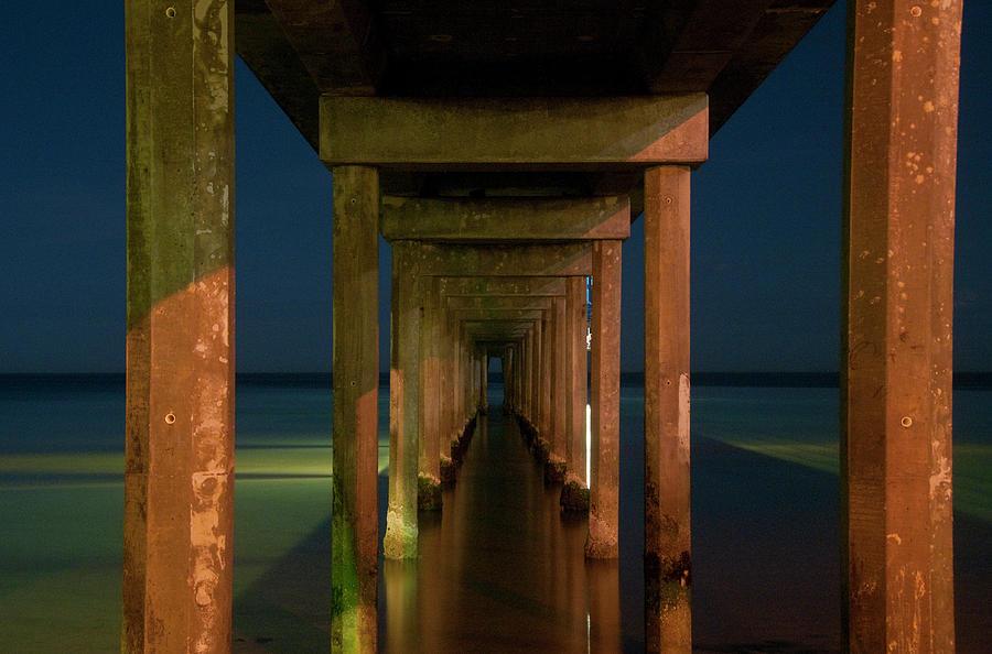 Brighton Photograph - Midnight At Brighton Jetty by Andrew Dickman