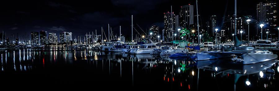 Ala Wai Boat Harbor Photograph - Midnight Blue II by Craig Watanabe