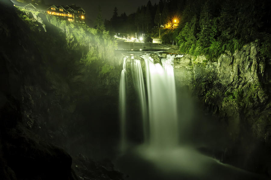 Snoqualmie Falls Photograph - Midnight Curtain by Ryan McGinnis