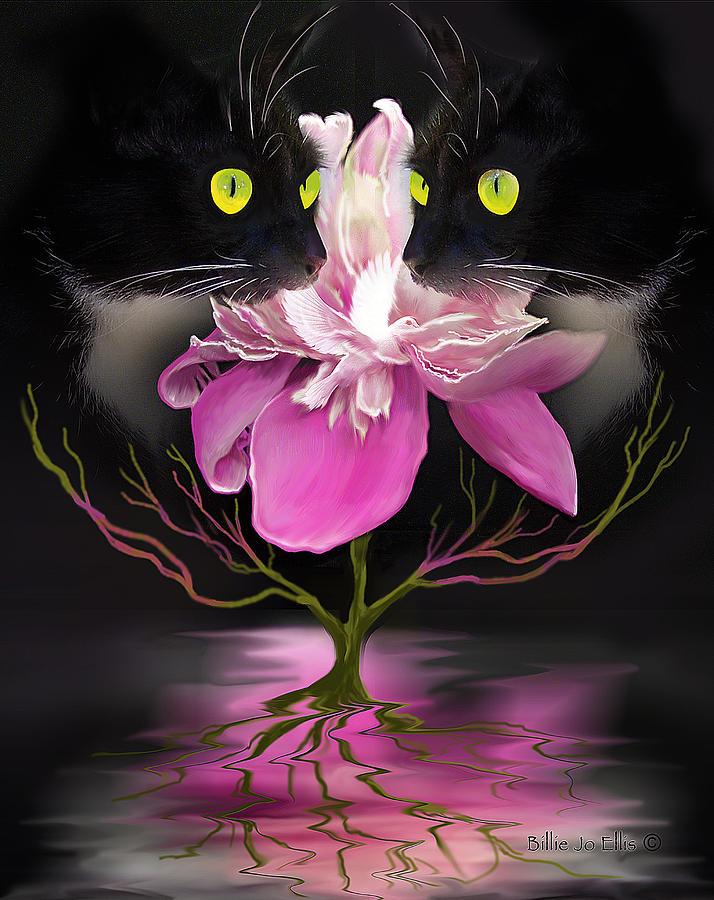 Cats Digital Art - Midnight Dance by Billie Jo Ellis