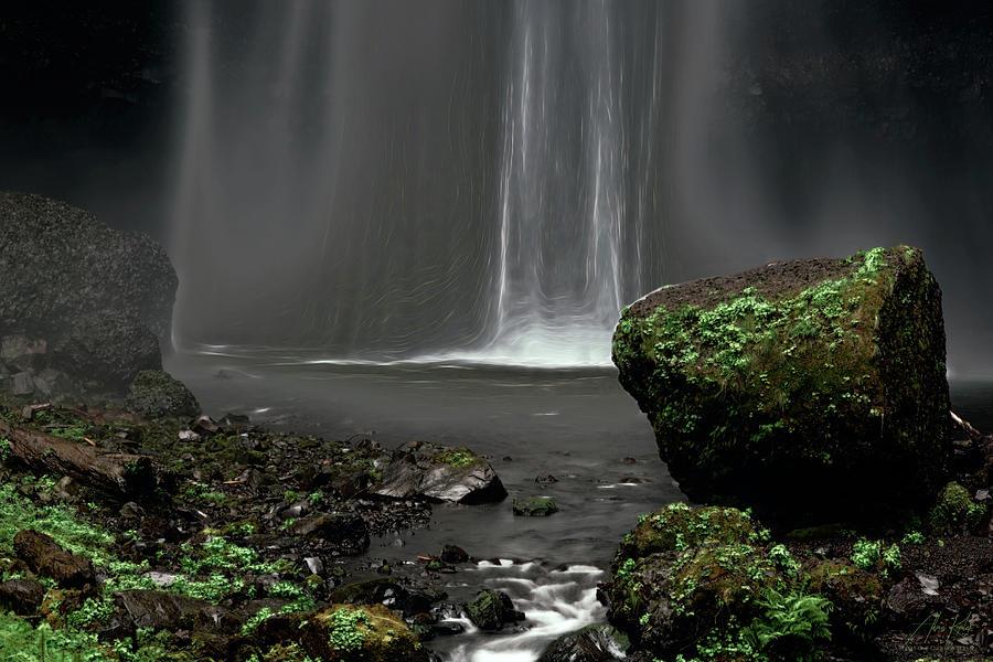 Midnight Electric Falls Photograph
