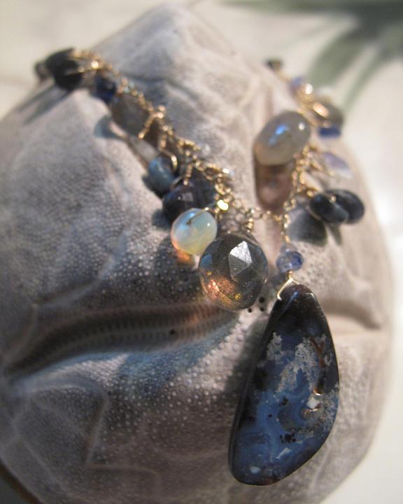 Natural Gemstone Jewelry - Midnight Empress by Adove  Fine Jewelry