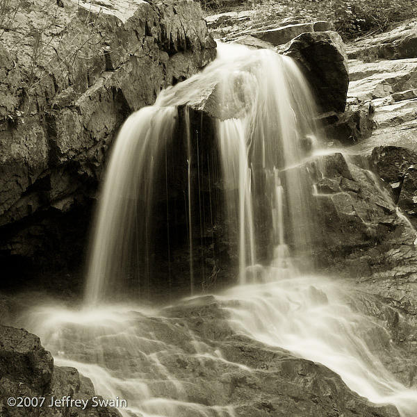 Waterfall Photograph - Midnight Falls by Jeffrey Swain