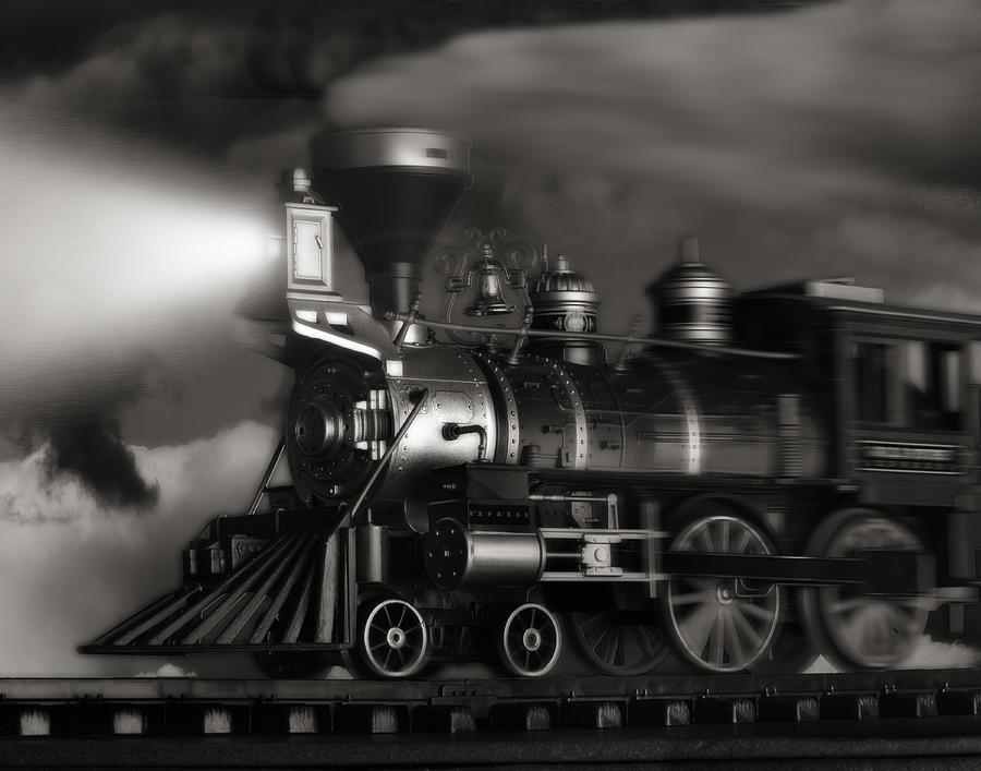 Train Photograph - Midnight Flyer by Tom Mc Nemar