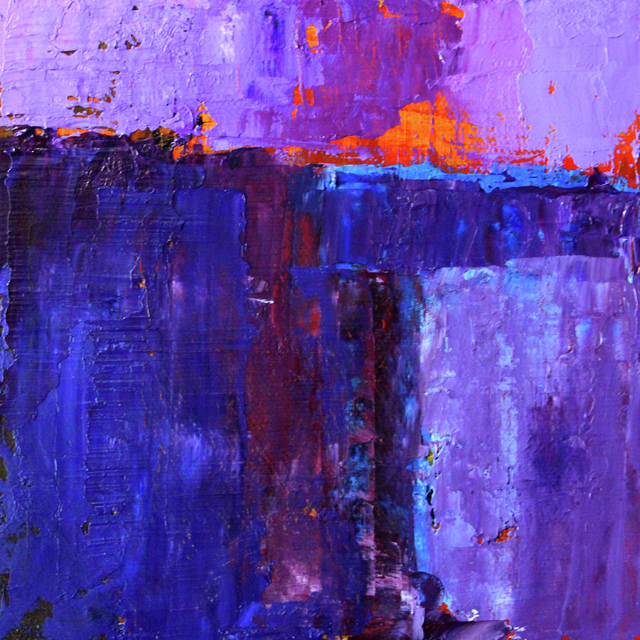 Ultraviolet Painting - Midnight Glow Abstract by Nancy Merkle