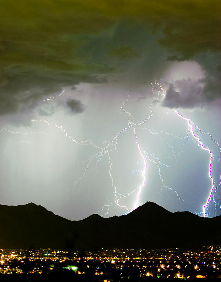 Lightning Photograph - Midnight Hour by James BO Insogna