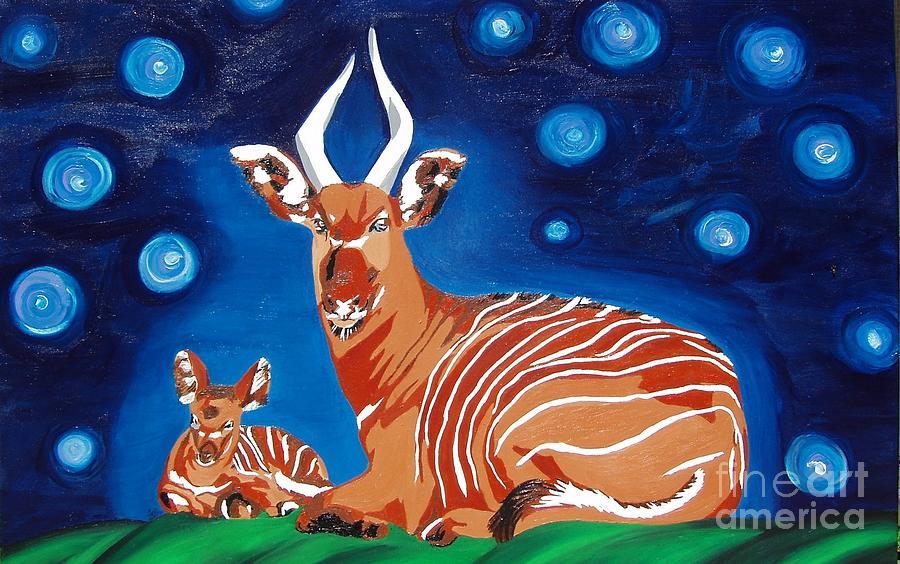 Bongo Painting - Midnight Phantom by Amy Pugh
