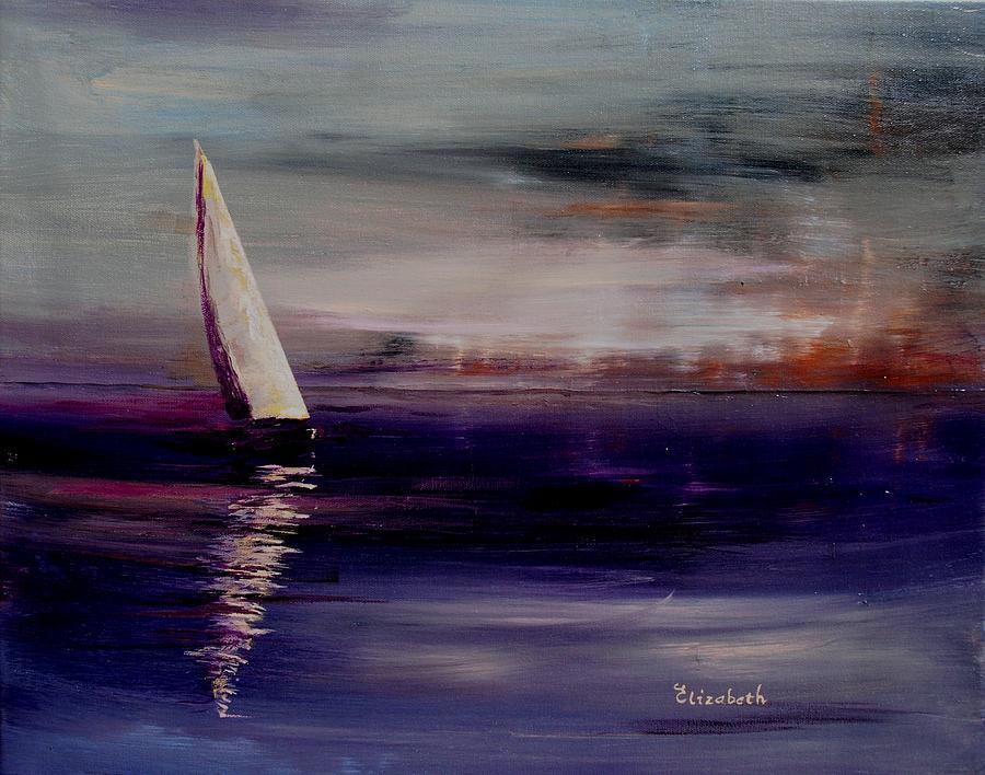 Midnight Painting - Midnight Sail by Beth Maddox
