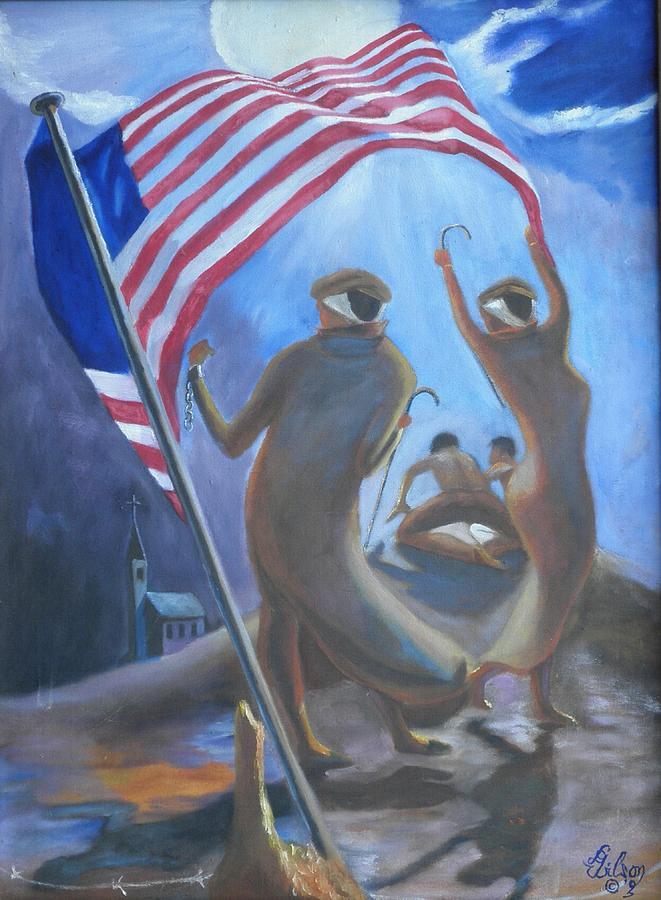 History Painting - Midnight Shepherdess by David G Wilson