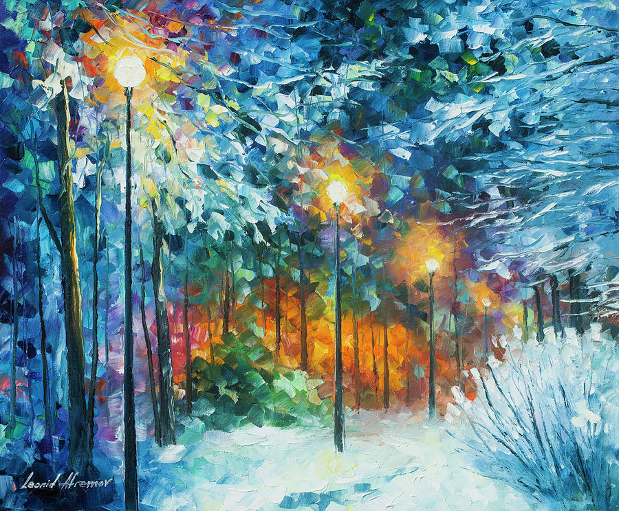 Painting Painting - Midnight Snow Songs  by Leonid Afremov