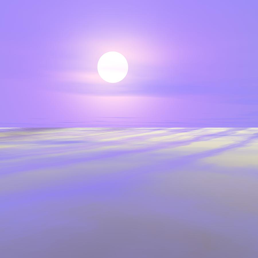 Antarctica Digital Art - Midnight Sun In Antarctica by Taketo Takahashi