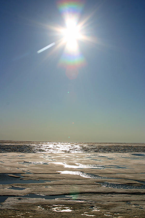 Arctic Photograph - Midnight Sun Over The Arctic by Anthony Jones