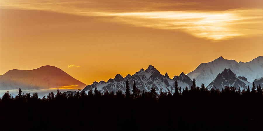 Denali National Park Photograph - Midnight Sunset by Myra Wilson