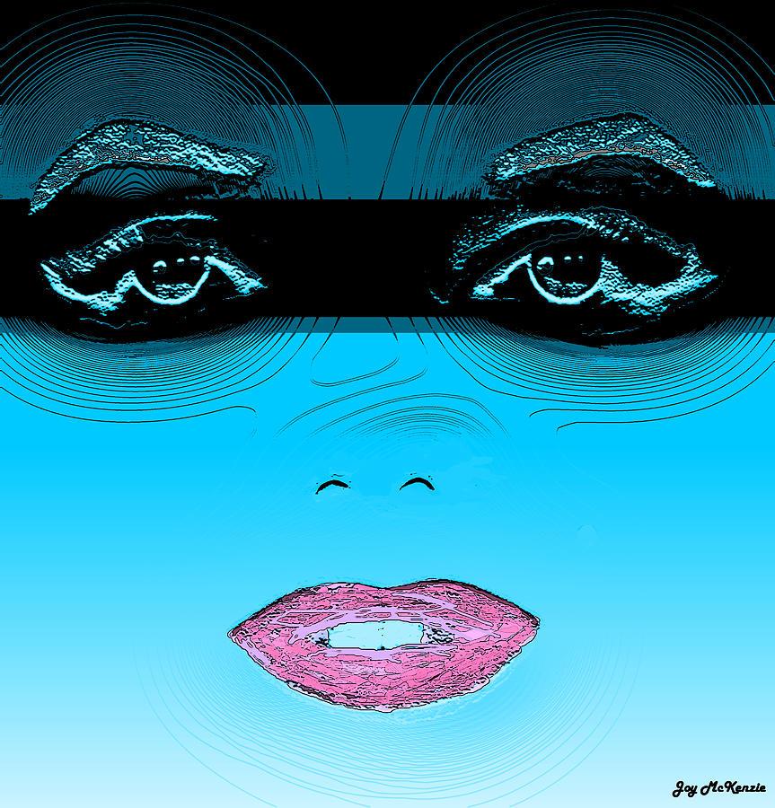 Digital Digital Art - Midnight Swim by Joy McKenzie
