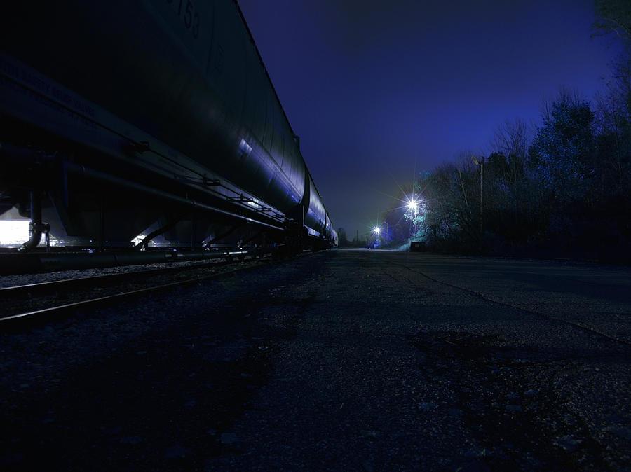 Night Photograph - Midnight Train 1 by Scott Hovind