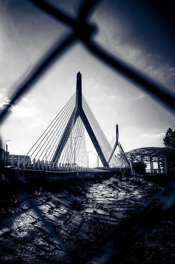 Hdr Photograph - Midnight Zakim by Andrew Kubica