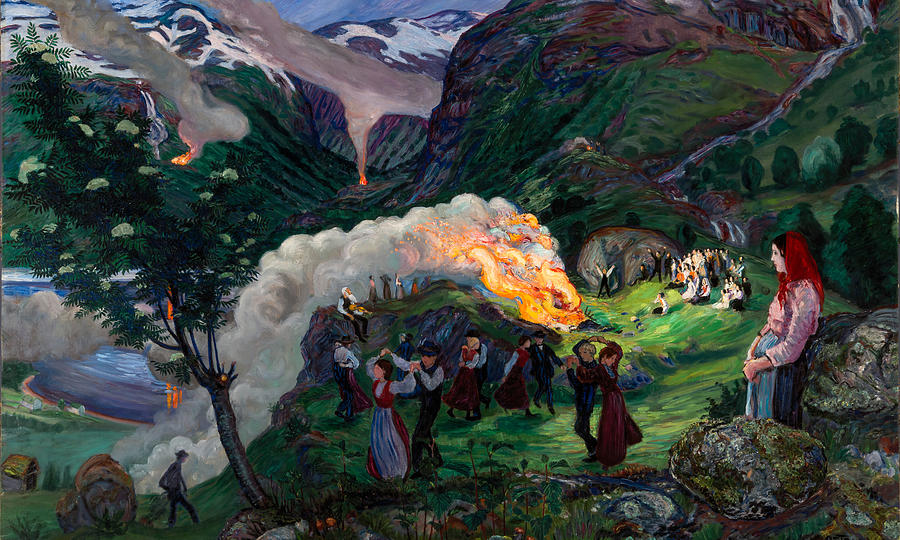 Image result for nikolai astrup bonfire