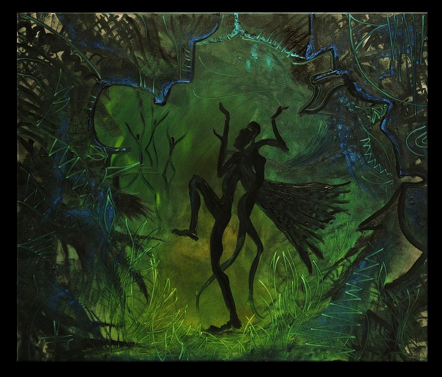Transrealism Painting - Midsummer Night by Zsuzsa Sedah Mathe