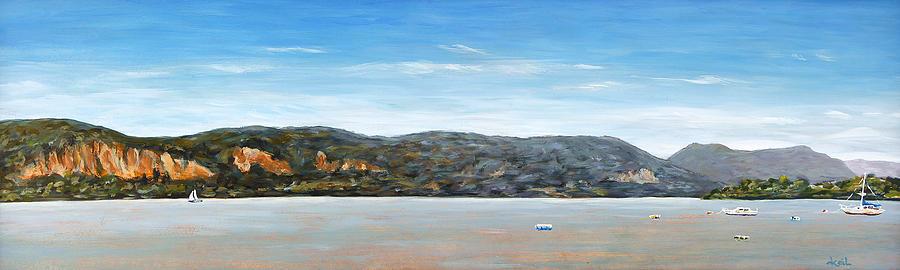 Hudson River Painting - Midsummer On The Hudson by Douglas Keil