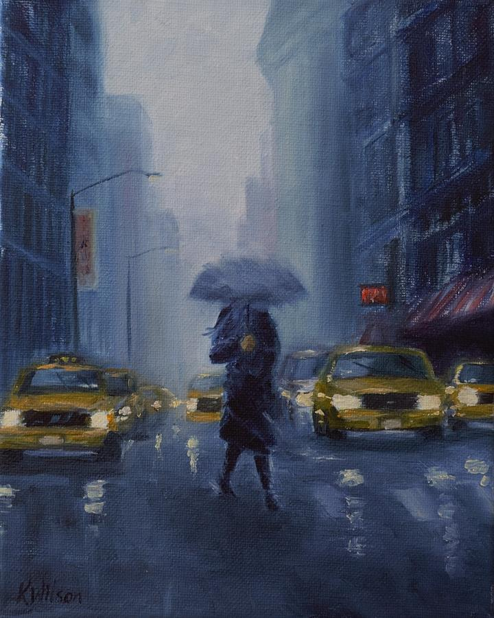 City Painting - Midtown Blue by Ken Wilson