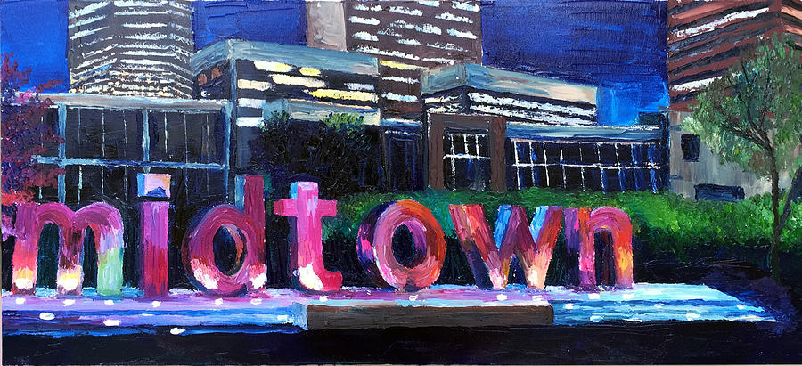 Downtown Painting - Midtown Glow by Lauren Luna