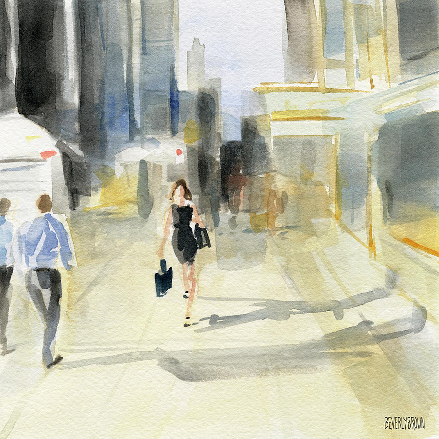 New York Painting - Midtown Light And Shadows by Beverly Brown