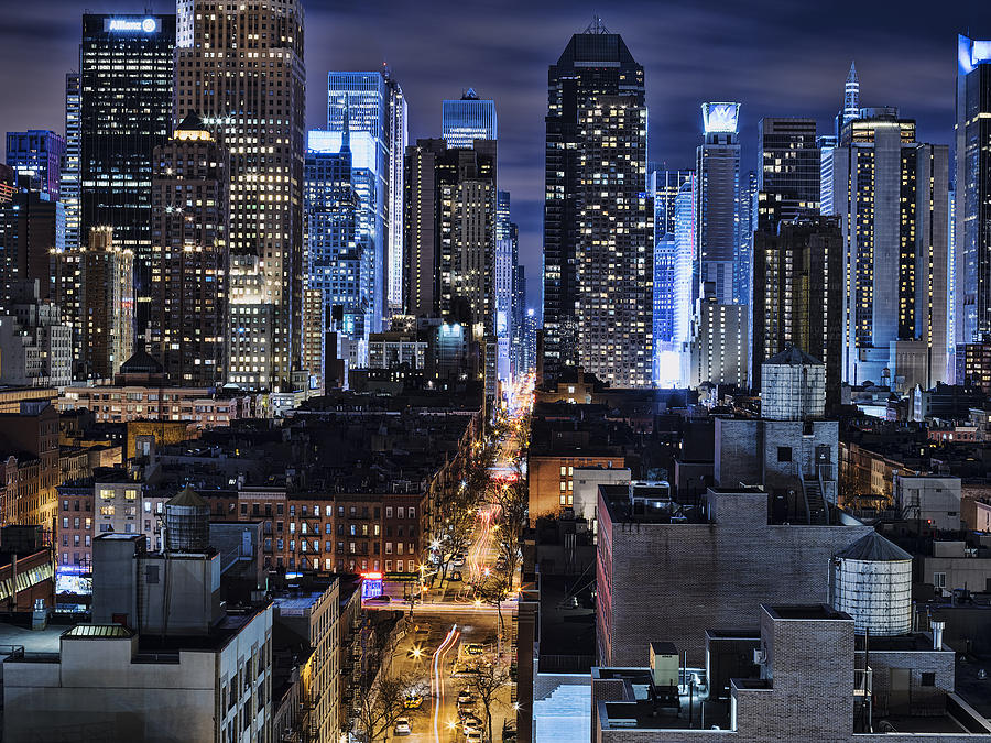 Cityscape Photograph - Midtown Looking From The West by Michael Tischler