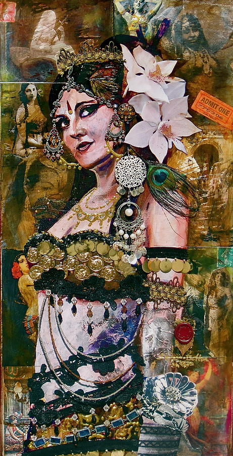 Belly Dance Painting - Midway Magic by Stephanie Bolton