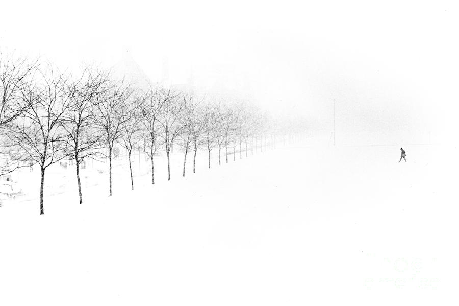 Snow Photograph - Midway Plaisance by Jim Wright