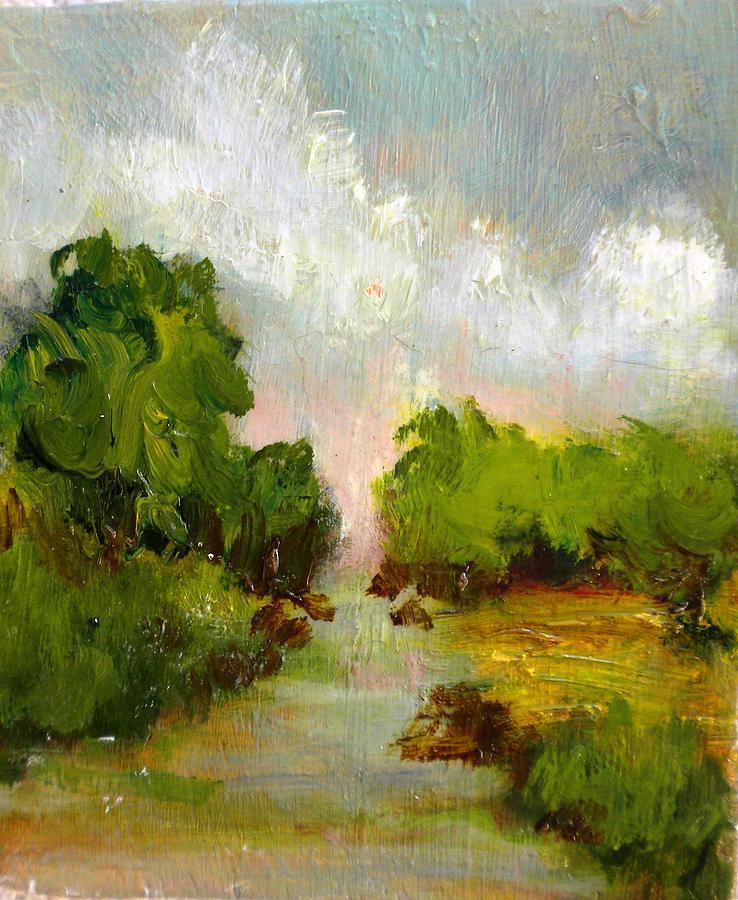 Landscape Painting - Midwest Landscape by Claudette Lee-Roseland