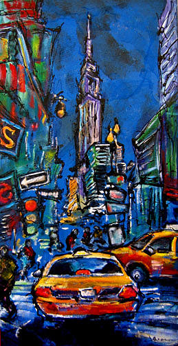 Cityscape Painting - Midwestern Tourist by Jean Mason