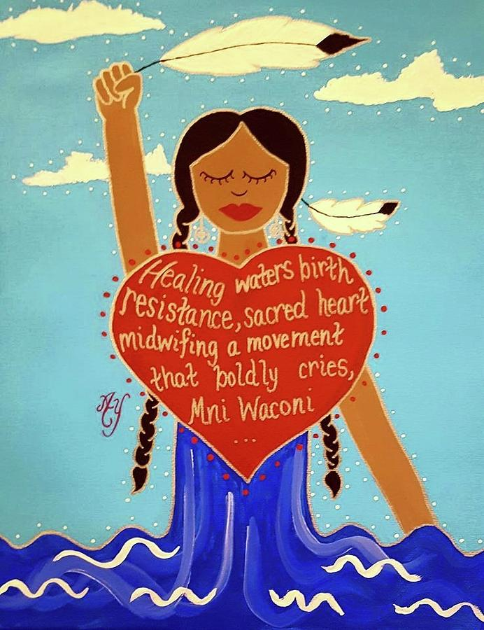 Holy Painting - Midwives of Standing Rock by Angela Yarber
