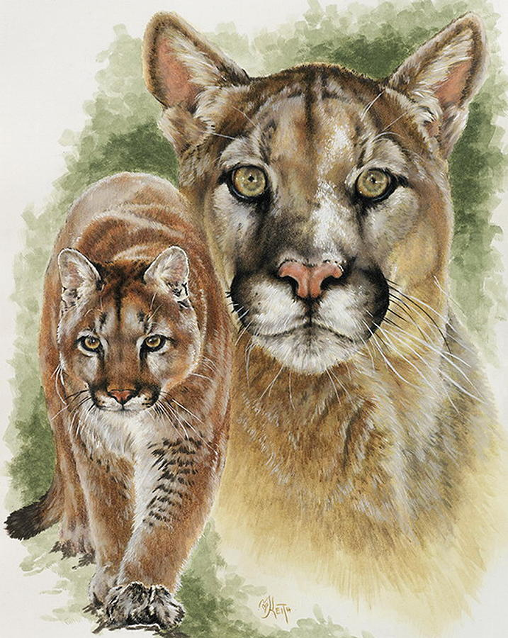 Cougar Mixed Media - Mighty by Barbara Keith