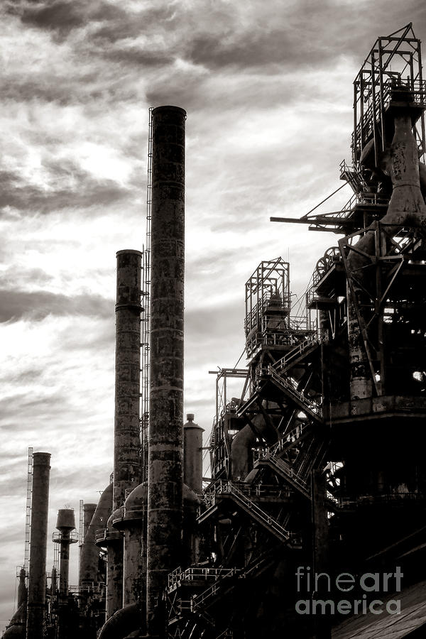 Bethlehem Photograph - Mighty Bethlehem Steel by Olivier Le Queinec