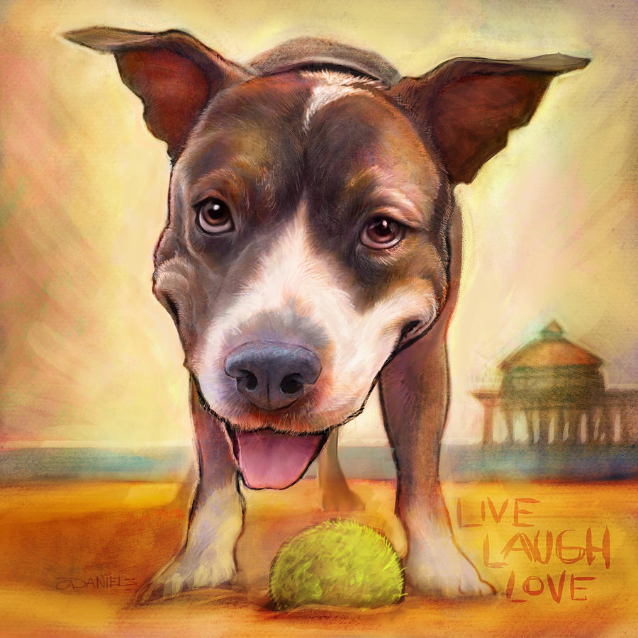 Dog Painting - Live. Laugh. Love. by Sean ODaniels