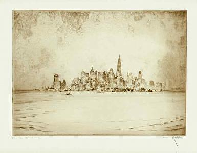 New York Drawing - Mighty Metropolis by Otto Kuhler