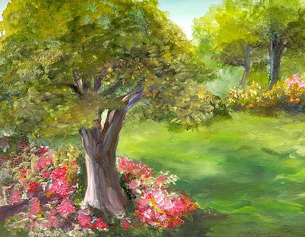 Landscape Painting - Mighty Oak by Shirley Lawing