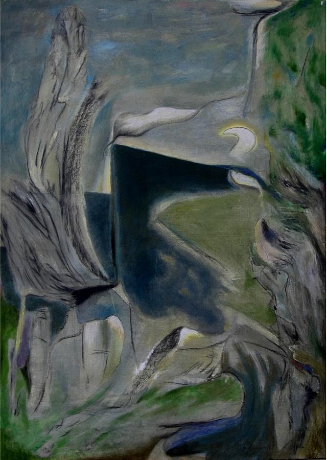Migrazione Al Chiaro Di Luna Painting by Adolfo De Turris