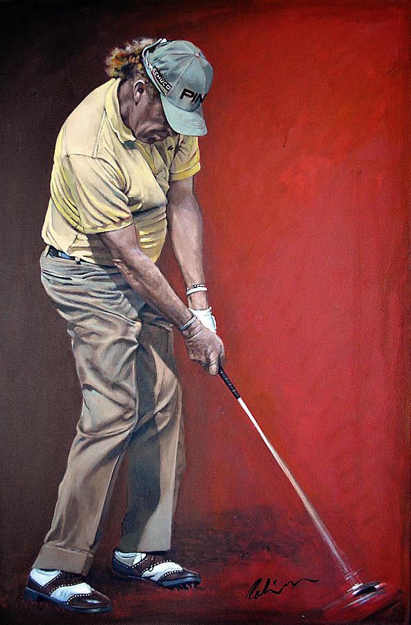 Jimenez Painting - Miguel Angel Jimenez by Mark Robinson