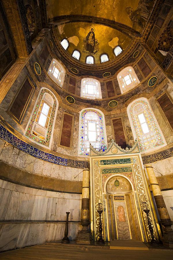 Hagia Photograph - Mihrab In The Hagia Sophia by Artur Bogacki