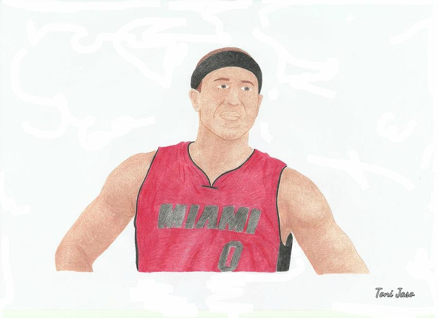 Basketball Drawing - Mike Bibby by Toni Jaso