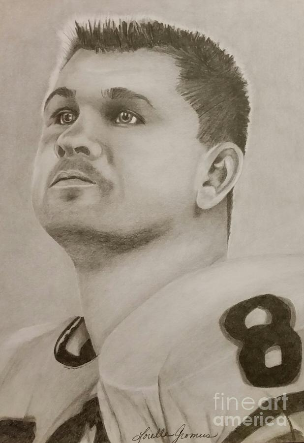 Athlete Drawing - Mike Ditka by Lorelle Gromus