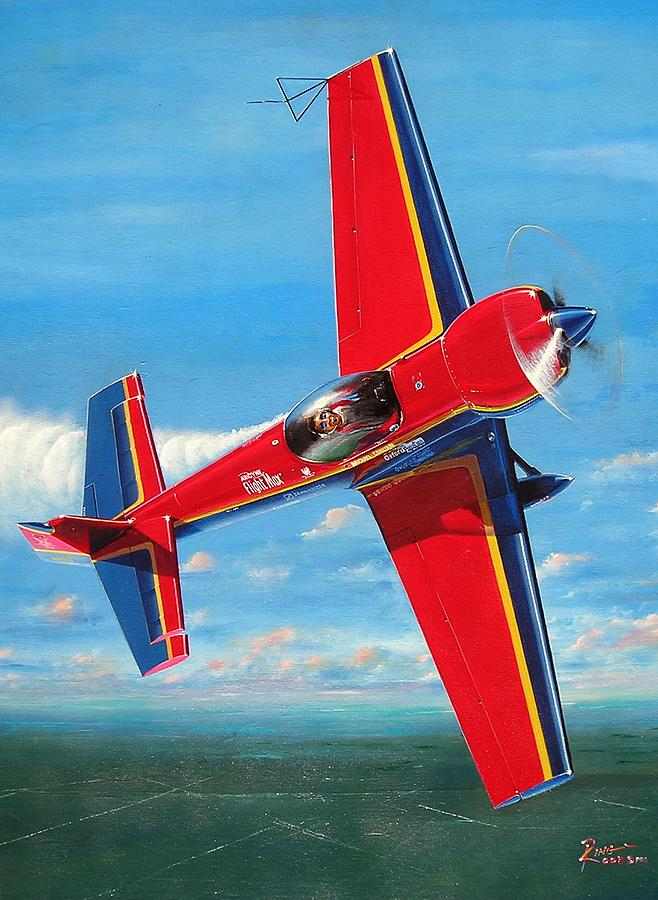 Aerobatics Painting - Mike Goulians 232 by Peter Ring Sr