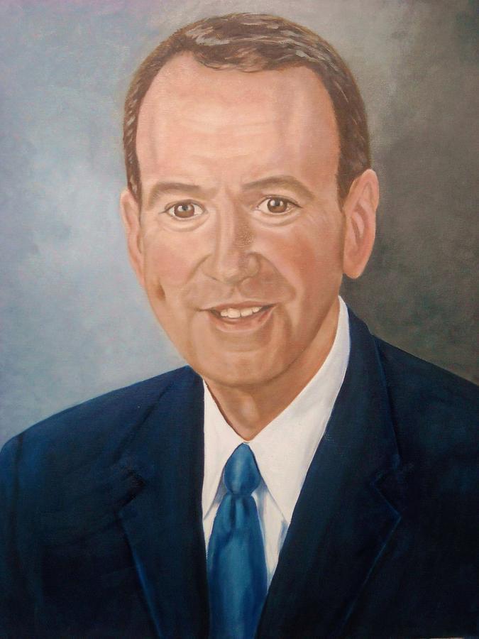 Huckabee Painting - Mike Huckabee Portrait by Tresa Crain