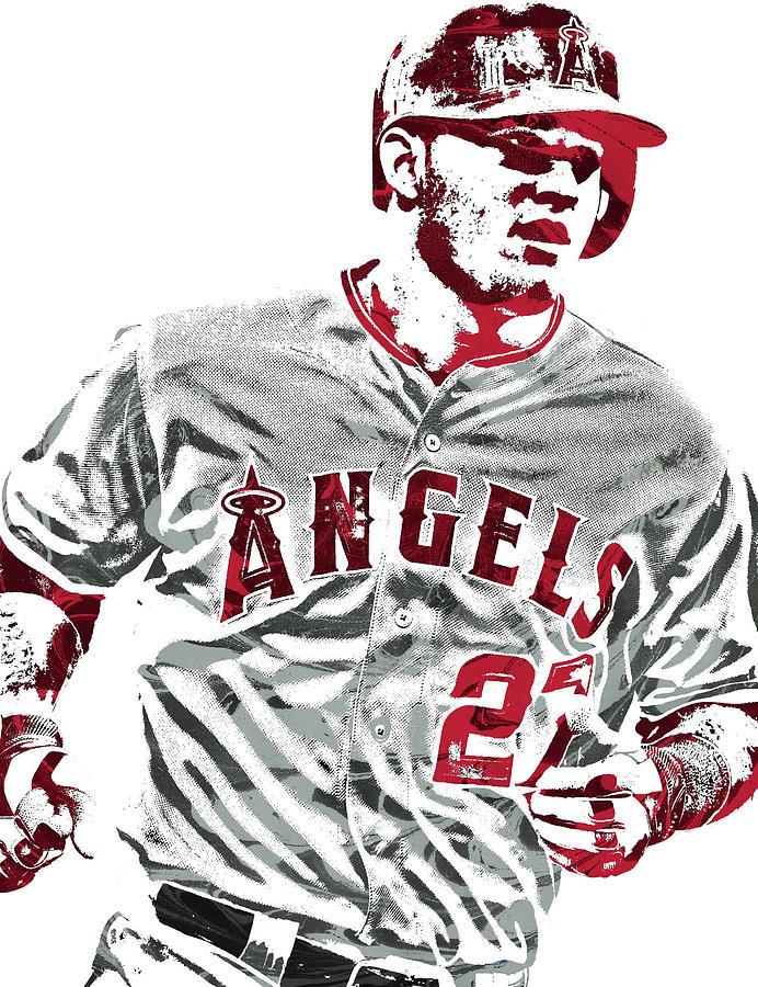 695dbd55a09 Mike Trout Los Angeles Angels Pixel Art 6 Mixed Media by Joe Hamilton