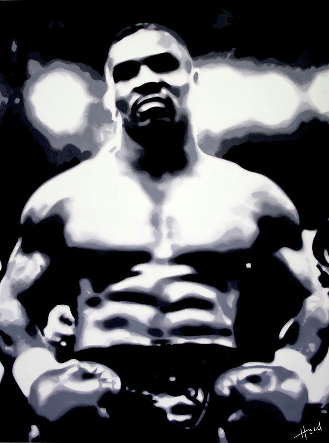 Hood Painting - Mike Tyson by Hood alias Ludzska