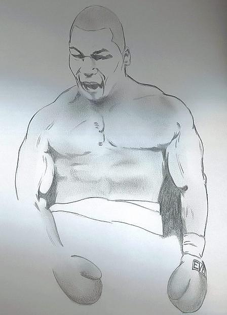 Boxers Drawing - Mike Tyson by Nathan Denham II