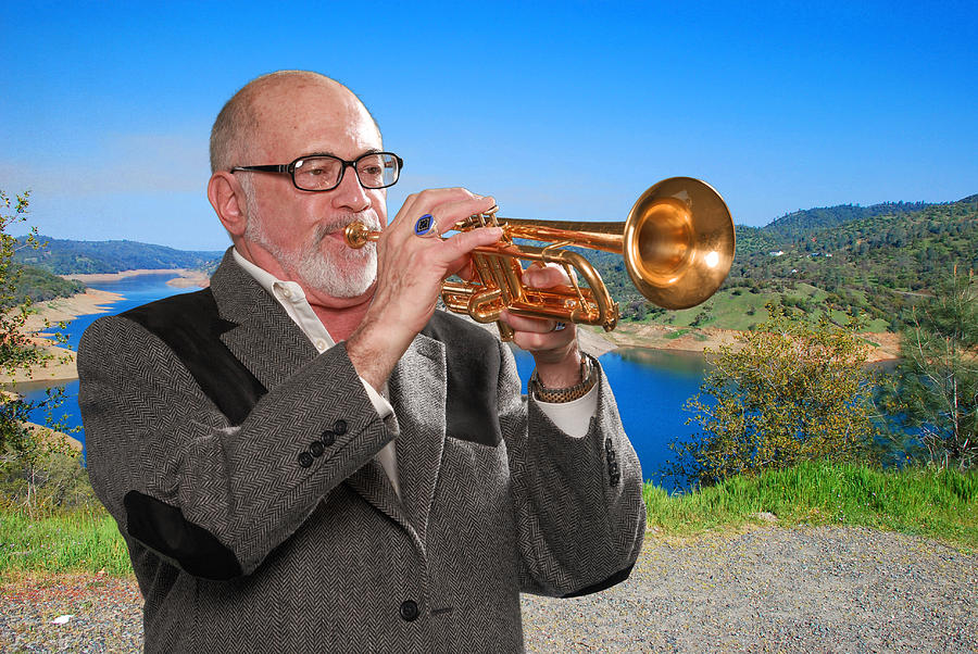 Trumpet Photograph - Mike Vax Professional Trumpet Player Photographic Print 3761.02 by M K  Miller
